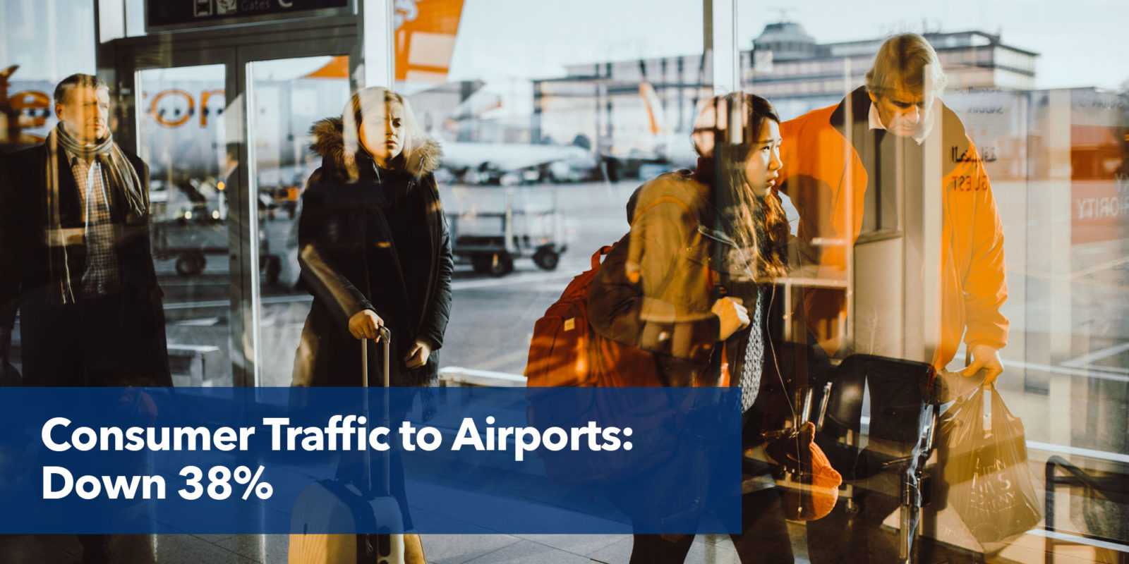 Consumer traffic to airports: down 38%.