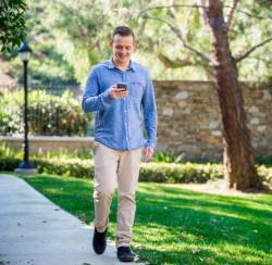 Man walking with phone