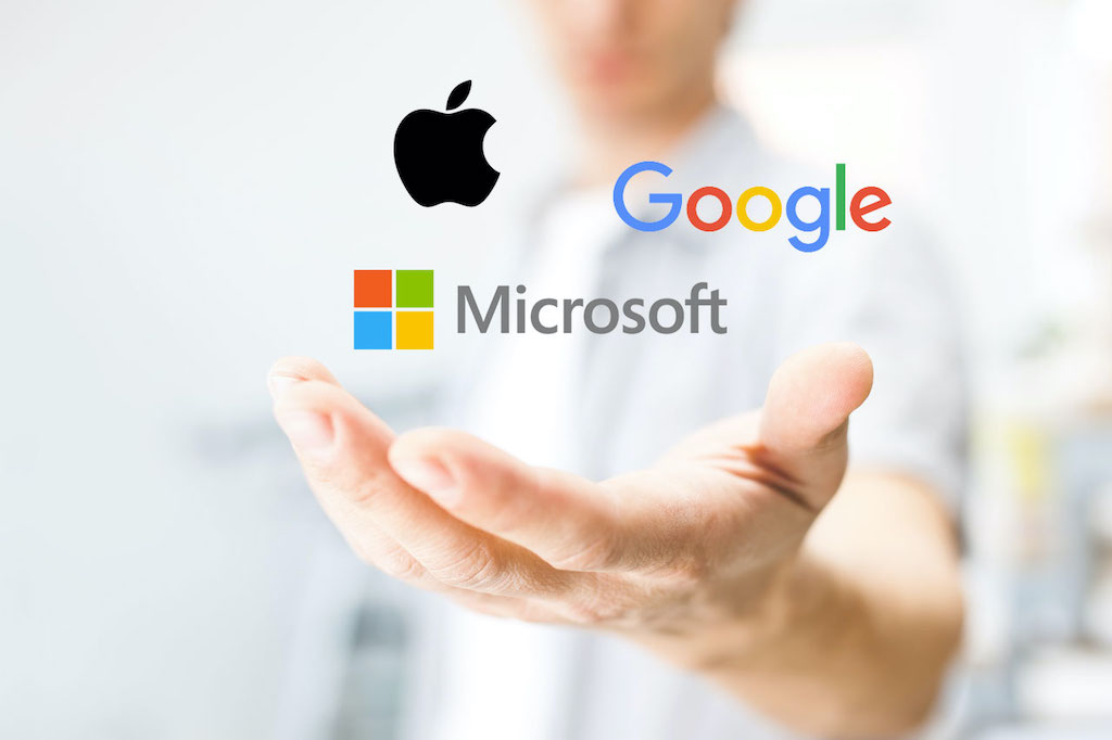 Tech titans: Apple vs. Google vs. Microsoft.