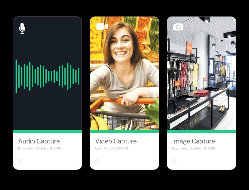Audio capture, video capture, and image capture demonstration