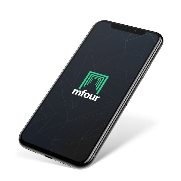 Phone with MFour logo in the center